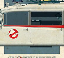 Ecto-1 triptych II of III by Staermose