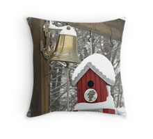Buckeye Birdhouse Throw Pillow