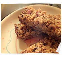 Homemade Granola Bars. Poster