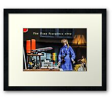 The Time Travellers Shop Framed Print