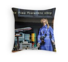 The Time Travellers Shop Throw Pillow