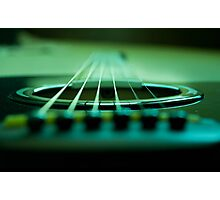 Guitar in Green Photographic Print