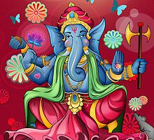 Ganesh Ji - Pink Edition  by Vik Kainth