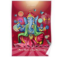 Ganesh Ji - Pink Edition  Poster