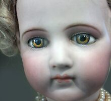 Vintage Collectable Doll with Pearl Necklace Photograph  by ARTificiaLondon