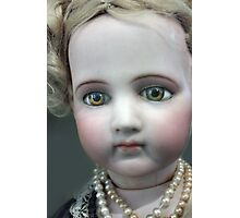 Vintage Collectable Doll with Pearl Necklace Photograph  Photographic Print