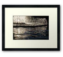 Joyful Sunny Splashes Framed Print