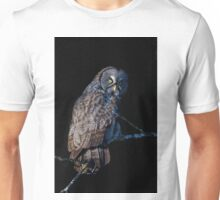 Spotlit - Great Grey Owl Unisex T-Shirt