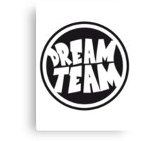 Circle round logo stamp graffiti dream team's frie Canvas Print