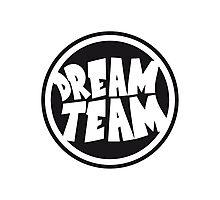 Circle round logo stamp graffiti dream team's frie Photographic Print