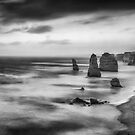 The Twelve Apostles in Black and White. by Thomas Anderson