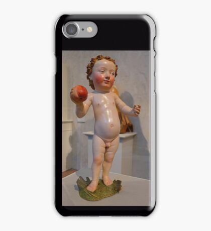 Baby Jesus with an apple iPhone Case/Skin