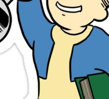 Vault Boy Intense Training (colored) Sticker