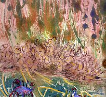 Blue Crabs, Tribute to Walter Inglis Anderson by SIDNEYCOBB
