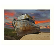 Beached and Abandoned I Art Print