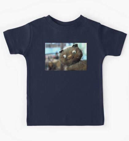 Adorable Funny Brown Kitty Cat Kids T Shirt Kids Tee