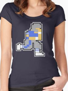 Nintendo Tecmo Bowl Detroit Lions A Women's Fitted Scoop T-Shirt
