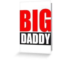 Big Daddy father hero dad father's day logo Greeting Card