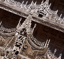 teak monastery by Anne Scantlebury