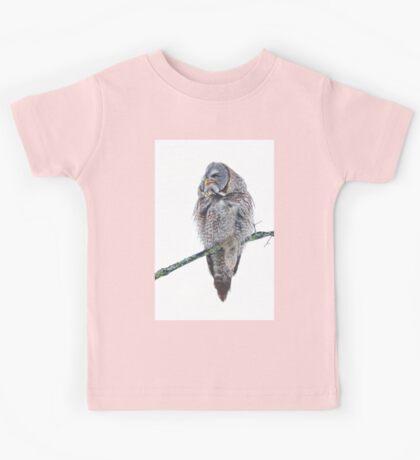 Just chillin - Great Grey Owl Kids Tee
