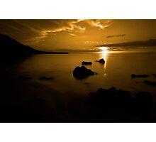 Gold Sunset Photographic Print