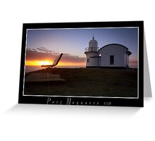 Lighthouse Port Macquarie Greeting Card
