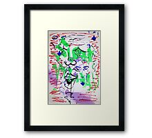 Hello officer, are you hear about the Noise, the Suicides, or the Drugs? Framed Print