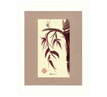 MUSE - Original Zen Ink Wash Sumi-e Asian Bamboo Painting Art Print