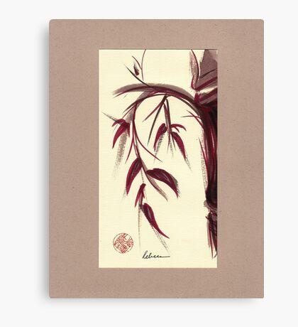 MUSE - Original Zen Ink Wash Sumi-e Asian Bamboo Painting Canvas Print