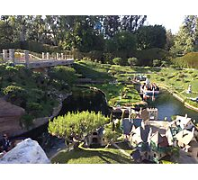 Storybook Land Canal Boats Photographic Print