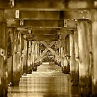Under the Pier at Valla Beach by Clare Colins