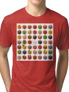 Mine Cubes Isometric Tri-blend T-Shirt