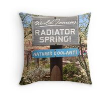 Welcome to Radiator Springs Throw Pillow