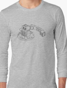 The Duplo Telephone Rattle In Black Version Long Sleeve T-Shirt