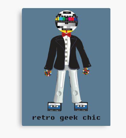 Retro Geek Chic Canvas Print
