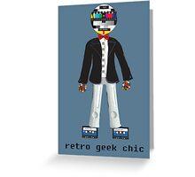 Retro Geek Chic Greeting Card