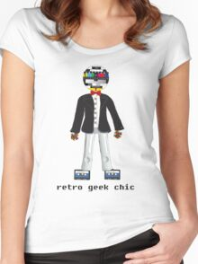 Retro Geek Chic Women's Fitted Scoop T-Shirt