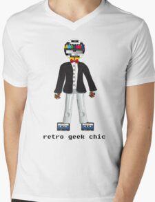 Retro Geek Chic Mens V-Neck T-Shirt
