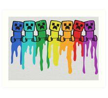 Rainbow Creep Art Print