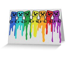 Rainbow Creep Greeting Card