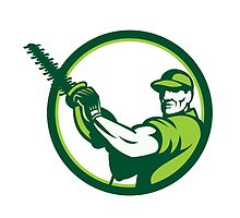 Tree Surgeon Chainsaw Retro by patrimonio
