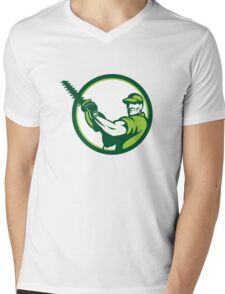 Tree Surgeon Chainsaw Retro Mens V-Neck T-Shirt