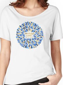 Snapchat – Navy & Gold Women's Relaxed Fit T-Shirt