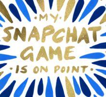 Snapchat – Navy & Gold Sticker