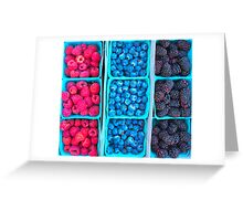 Farm Fresh Berries - Raspberries Blueberries Blackberies Greeting Card