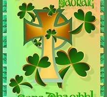 Happy St. Patrick's Day to you!-Celtic Text by Lotacats
