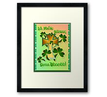 Happy St. Patrick's Day to you!-Celtic Text Framed Print
