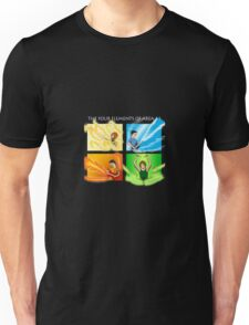 The Four Elements of Area 11 - White text Unisex T-Shirt