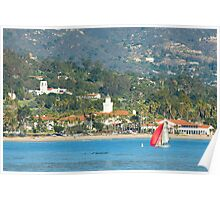 Christmas in Paradise - Santa Barbara California Poster