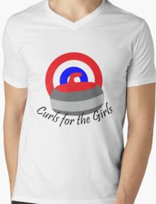Curls for the Girls Mens V-Neck T-Shirt